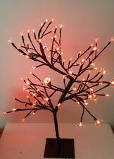 2ft (60cm) Pre-Lit Bonsai red Lights 96 LED Cherry Blossom Tree Christmas