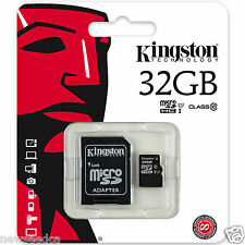 Kingston 32GB 32 GB micro SD SDHC Class 10 Memory Card with adapter for Samsung