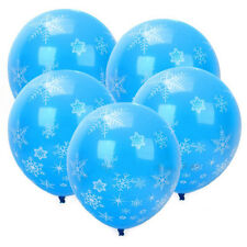 12X Christmas Birthday Party Latex Balloon Supplies Decorations Frozen Snowflake