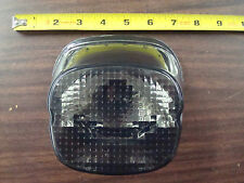 SMOKED LAYDOWN TAILLIGHT LENS BOTTOM LICENSE PLATE WINDOW FOR 2003 & UP HARLEY