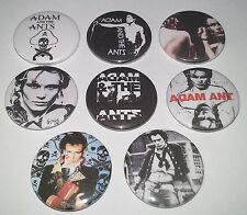 8 Adam and the Ants Pin button Badges punk Ant Cockney Rejects Sex Pistols Clash