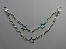 "TROUSER CHAIN "" 2 ROW CHAIN WITH BLUE STARS"" GOOD QUALITY"