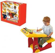 Fireman Sam Sit Draw Kids Creativity Desk Childrens Activity Play W/ Accessorie