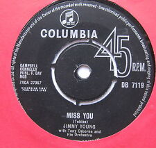 "JIMMY YOUNG - Miss You - Excellent Condition 7"" Single Columbia DB 719"