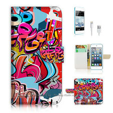 iPod Touch 5 iTouch 5 Flip Wallet Case Cover! P0631 Graffiti