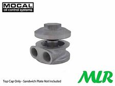 MOCAL M20 REMOTE OIL FILTER ALLOY CAP MUSHROOM SANDWICH PLATE MLR.AVF