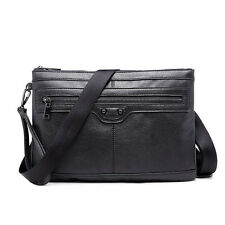 New Men's Leather Shoulder Messenger Bag Satchel Sling Bag Crossbody Bag Handbag