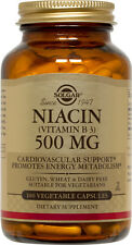 Solgar Niacin Vitamin B3 500mg 100 Vegetable Capsules