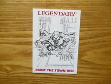 2014 SPIDER-MAN LEGENDARY EXPANSION SET PAINT THE TOWN RED PROMO CARD