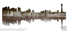 Seattle Reflection II City Abstract Painting on Metal Wall Art by Ash Carl
