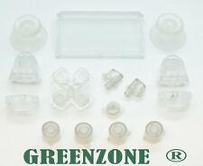 Clear Full PS4 Buttons Mod Kit For Playstation 4 Controller Greenzone ®