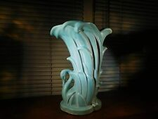 McCoy Art Pottery Green Vintage Piece Swan Planter Vase Matte