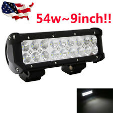 10Inch 54W CREE Led Flood Work Driving Light Bar Offroad 12V 4WD Truck Jeep