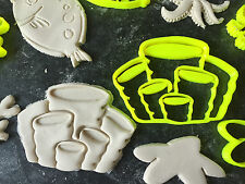 sea plant animals set Cookie Fondant Cutter Cupcake Cake Decoration Gift Badge