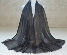 Sparkle Shimmer Pashmina Shawl Throw Wedding Glitter Gold Large Scarf Stole Wrap