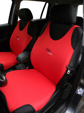 2 RED FRONT VEST T-SHIRT CAR SEAT COVERs PROTECTORS FOR NISSAN QASHQAI
