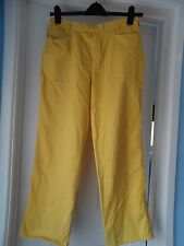 """Nike fit dry men`s yellow golf trousers waist 31"""""""