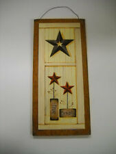 Live Simply Country wooden wall art sign barn stars and berries primitive decor