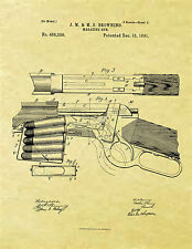 Display Art Print US PATENT for WINCHESTER 1892 Browning Lever Action Rifle