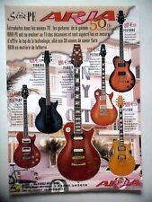 PUBLICITE-ADVERTISING :  Guitares ARIA Série PE  10/2007