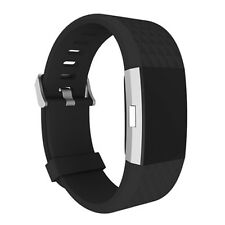 Black- Replacement Strap Band Bracelet For Fitbit Charge 2 Activity Tracker New