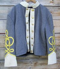 civil war confederate reenactor shell jacket with 4 row braids 48
