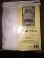 "Ivy Country Curtain Tier Pair 56"" x 36"" And Swag 56"" x 36""  Set"