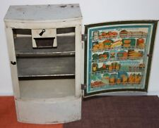 Vintage Wolverine Metal Toy Kitchen Refrigerator
