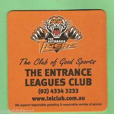 #D119. THE ENTRANCE TIGERS  RUGBY LEAGUE CLUB BEER COASTER
