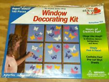 Stik-EES Butterflies Quality Window Clings Home School Office Reusable NEW
