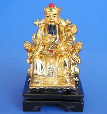 "4"" Golden Feng Shui God of Wealth - Chinese Wealthy God Staue"
