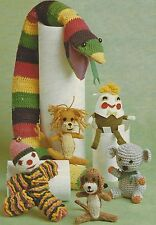 Toys and Door Stop Snake Crochet and Knitting Patterns Lion Clown Koala  DK 782