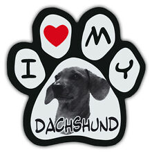 Picture Paws | Dog Paw Shaped Magnets: I LOVE MY DACHSHUND | Car Magnet