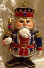 VINTAGE VICTORIAN NUTCRACKER TOY SOLDIER CHRISTMAS ORNAMENT CHALKWARE