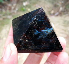 HOT 146 g Natural Astrophyllite Quartz Crystal PYRAMID YHT1031