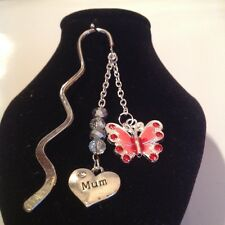 Mum with butterfly book mark