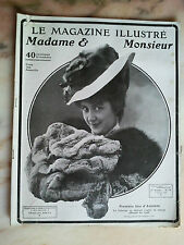 le magasine illustré madame monsieur n°70 de 1906 mode