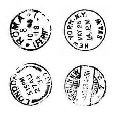 Crafty individuos cuatro MATASELLOS Desmontado sello de goma roja