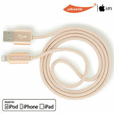 Genuine 2A HEAVY DUTY BRAIDED NYLON iPhone Charger Charging Cord LIGHTNING CABLE