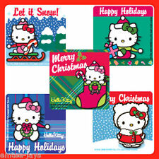 Hello Kitty Stickers x 5 - Christmas Stocking Stuffers - Xmas Fun