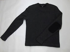 $98 BANANA REPUBLIC Elbow Patch Pullover Crew Lambswool Cashmere Mens Sweater S