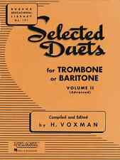 """RUBANK """"SELECTED DUETS"""" VOLUME 2 FOR TROMBONE MUSIC BOOK BAND BRAND NEW ON SALE!"""