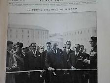 L'illustrazione italiana del 1931 LA NUOVA STAZIONE DI MILANO CENTRALE
