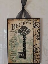 Believe Plaque Wall Decor French Key