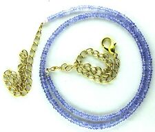 Ct 21.70 Natural TANZANITE Faceted Beads Womens Necklaces Top Gemstone Gemstone*
