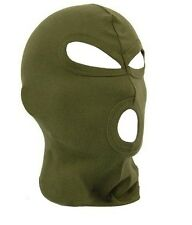 3 Hole Olive green SAS Style BIKE MOTORCYCLE FACE MASK NECK WARMER HOOD CAP SKI