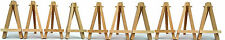 10x MINI WOODEN ARTIST EASEL FOR ARTWORK DISPLAY, TABLE SETTINGS SET, CRAFT, ART