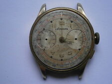 Vintage gents CHRONOGRAPH wristwatch LEONIDAS mechanical watch spares or repair