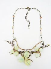 Vintage Unworn New Condition Czech Bead Bohemian Glass Flower Necklace #V5