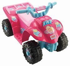 Fisher-Price Power Wheels ATV Barbie Princess Lil' Quad Toddler Safe Easy Stop